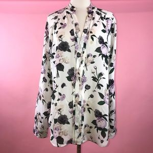 Equipment Femme Floral Print 100% Silk Blouse